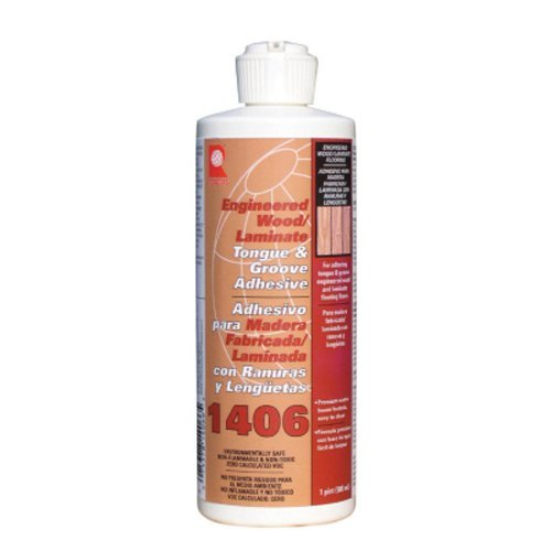 (QEP 1406-P Tongue and Groove Adhesive For Laminate and Wood Floors, 1 Pint Bottle by QEP )