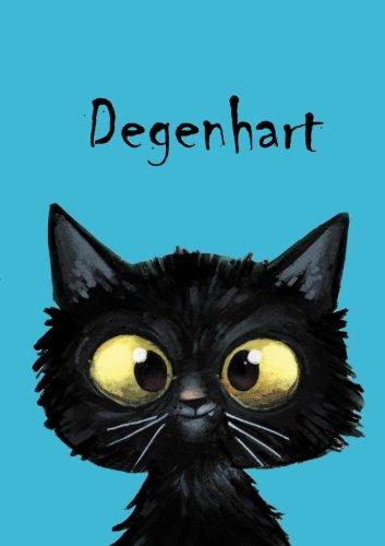 Degenhart: Degenhart - Katzen - Malbuch / Notizbuch / Tagebuch: A5 - blanko (German Edition)