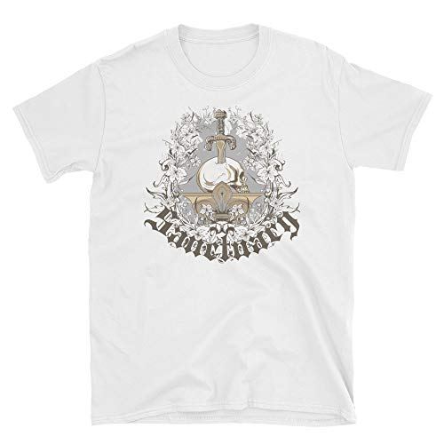 Sancuary Skull and Sword on Pedestal T-Shirt White (Sword Pedestal)