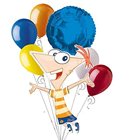 Amazon 7 Pc Phineas Ferb Happy Birthday Balloon Bouquet Party