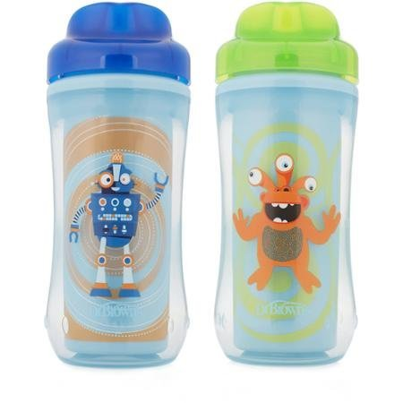 BPA-Free Dr. Brown's Spoutless Cup Boy Monster/Robot, 10 oz, 2-pack (Stage 4, 12 Months and Up) (Sippie Cups For Toddlers compare prices)