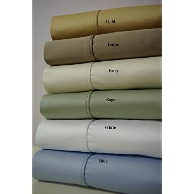 Queen Gray Egyptian-Cotton-Blend Wrinkle-Free Super-Deep 22-inch Sheets 650-Thread-Count Solid Sheet Set