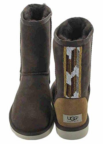 M UGG Serape Twinface 7 Boot B Chocolate Classic Classic Beads T1qTwaHP
