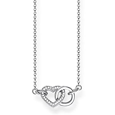 Thomas Sabo Women Silver Pendant Necklace - KE1542-001-12-L45v nxWOm