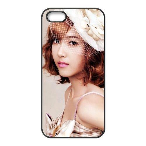 Girls Generation Jessica coque iPhone 5 5S cellulaire cas coque de téléphone cas téléphone cellulaire noir couvercle EOKXLLNCD24052