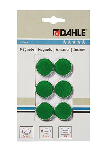 Dahle bürotechnik 24mm Diameter Magnetic Boards 05.95424Height: 7mm, Green