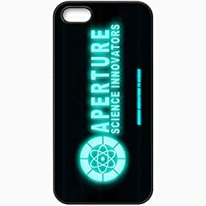 Personalized iPhone 5 5S Cell phone Case/Cover Skin Aperture Logo Hd Old Terminal Black