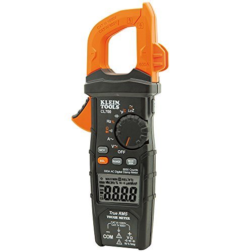 Digital Clamp Meter AC/DC Auto-Ranging 600 Amp, LoZ, Measures Voltage, Resistance, More Klein Tools CL700