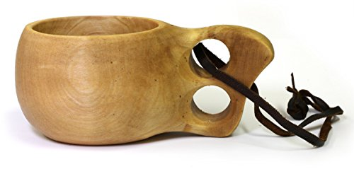 Right Height Natural (Kuksa Ancient Lapland Finland Wooden Drinking Cup No 016)