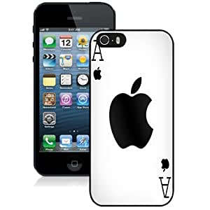 New Personalized Custom Designed For iPhone 5s Phone Case For Ace Playing Card Apple Logo Phone Case Cover