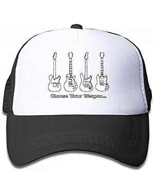 Choose Your Weapon Music Guitar Youth Toddler Mesh Hats Kid Baseball Trucker Cap