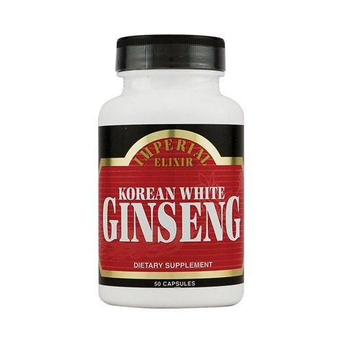 New - Imperial Elixir Korean White Ginseng - 500 mg - 50 Capsules