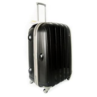 """Luggage X - Set of 3 Lightweight Hard Shell Black Trolley Suitcases 30"""" + 26"""" + 22"""""""