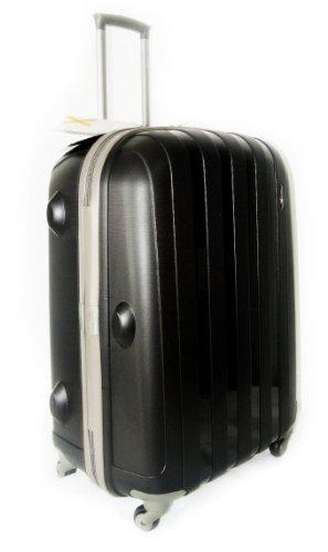 LuggageX Adult Luggage 26' (66cm) Hard Sided Polypropylene Trolley Suitcase Black