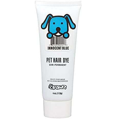 Amazon.com : DOG HAIR DYE GEL (BLUE) - New Bright, Fun Shade, Semi ...