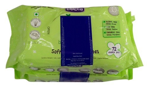 Chicco Baby Moments Soft Cleansing Wipes, 144 Pieces Combo Pack