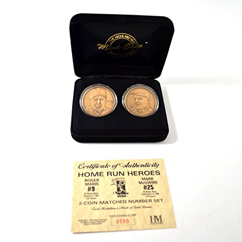 Highland Mint Mark McGwire/Roger Maris Homerun Heroes Bronze Coin Set (Highland Bronze Coin Set)