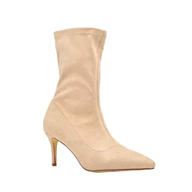 b450ad3f8c5 Olivia and Jaymes Women s Pointed Toe Mid Calf Ankle Shoe Boots Low Kitten  Heel Short Booties