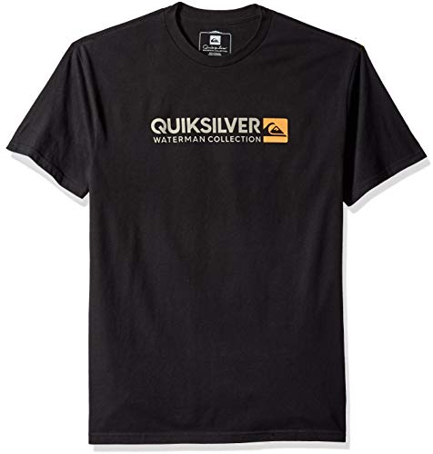 (Quiksilver Waterman Men's Onstand T-Shirt, Black, L)