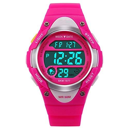 V2A Kids LED Backlight Waterproof Digital Sports Casual Watch for Boys and Girls Price & Reviews