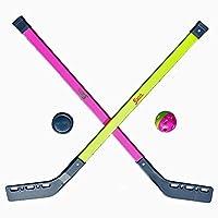 Kinder Streethockey SET Feld Eis Halle Straßen Hockey Spiel 2 Schläger 1 Ball...