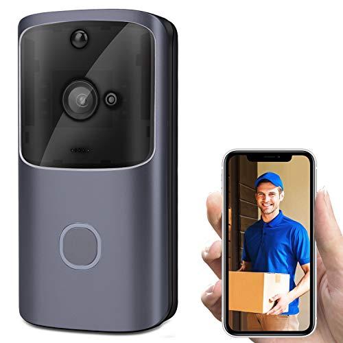 Horseshoe Wi-Fi Video Doorbell, 720P HD Doorbell Camera with Two-Way Talk & Video, PIR Motion Detection, IR Night Vision Wireless Video Doorbell