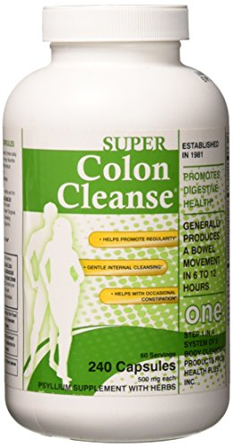 Super Colon Cleanse Capsules, 530 mg, 240 Count