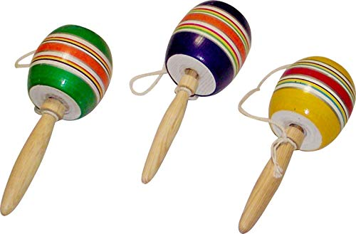 (Mexican Classic Wooden Baleros Madera - Set of 3)