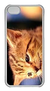 Customized iphone 5C PC Transparent Case - Cat Cover