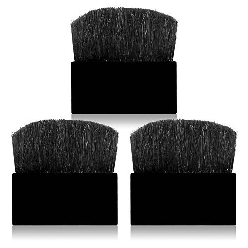(SHANY 3 Piece Redefined Portable Flat Brush Set, Black)