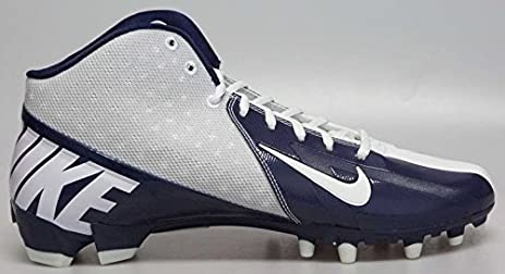 New! NIKE Vapor Pro 3/4 TD Football Cleats Blue & White Football Shoes