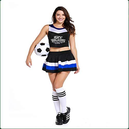 School Match Uniforms Football Cheerleading Soccer Baby Costumes Gymnasium Movement Cheerleading Costum Black Cheerleader Free Size Costume -