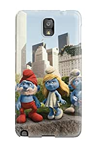 First Class Case Cover For Galaxy Note 3 Dual Protection Cover The Smurfs