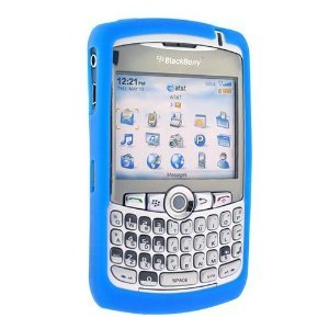 New OEM BlackBerry Curve Blue Silicon Cover Skin Case ()