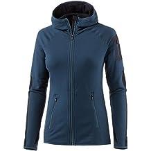Icebreaker Merino Women's Atom Long Sleeve Zip Hoodie, Large, Largo/Midnight Navy