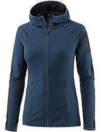 Icebreaker Merino Women's Atom Long Sleeve Zip Hoodie, Medium, Largo/Midnight Navy