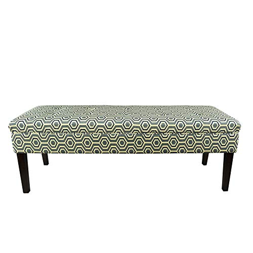MJL Furniture Designs Kaya Collection Upholstered and Padded Button Tufted Accent Bedroom Bench, Cott-Ashton Series, Wedgewood