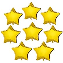 10 inch Gold Mylar Balloons Star Shaped Foil Balloon Birthday Party Supplies Wedding Decoration, 50 PC