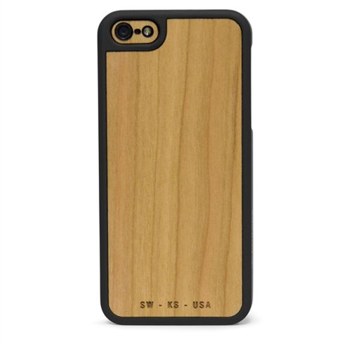 Slickwraps Wood Series the Case for iPhone 5c - Natural Cherry - Carrying Case - Retail Packaging - Natural Cherry