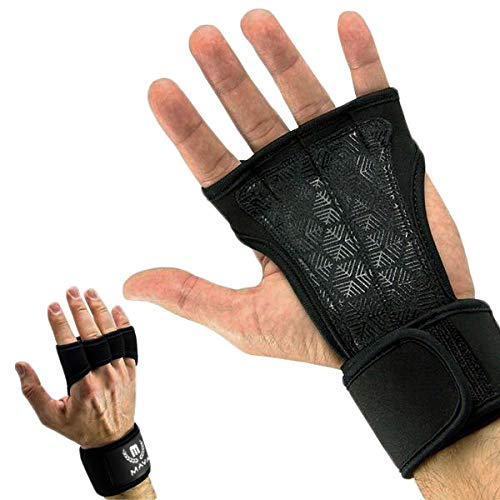 Mava Sports Cross Training Gloves with Wrist Support, X-Small - Black