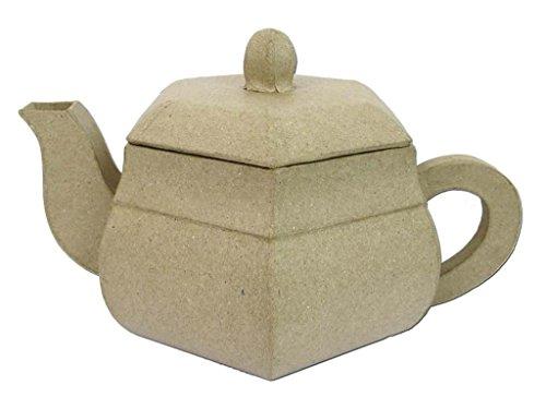 Craft Ped Paper CPLGD786 Mache Teapot Hexagonal Kraft