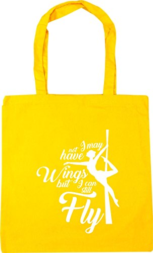 Not 42cm Wings 10 Beach Gym Yellow Still I but May Can Have I Shopping litres Fly Tote HippoWarehouse Bag x38cm qTZCEE