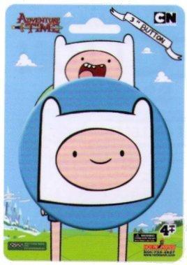 Adventure Time Finn Face 3 Iinch Button/ Animewild