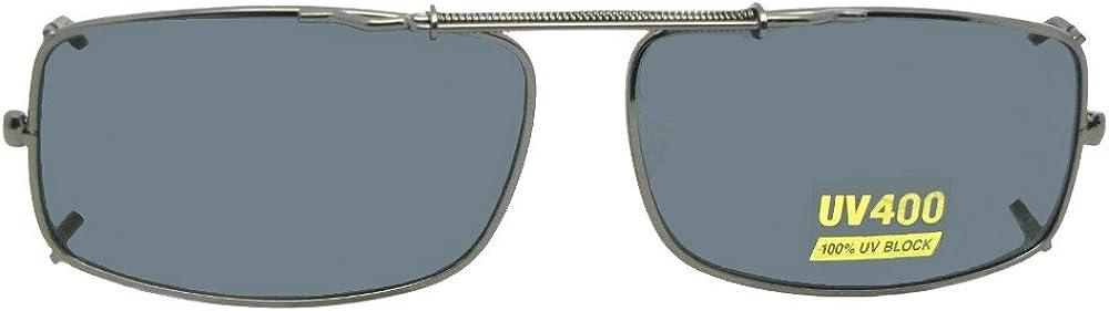 Slim Rectangle Polarized Clip On Sunglasses Metal frame Polarized UV400 Lenses