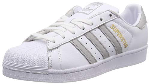 Chaussures Gymnastique W F17 De Two White Adidas ftwr Superstar grey Blanc Femme ftwr White HxIRFE