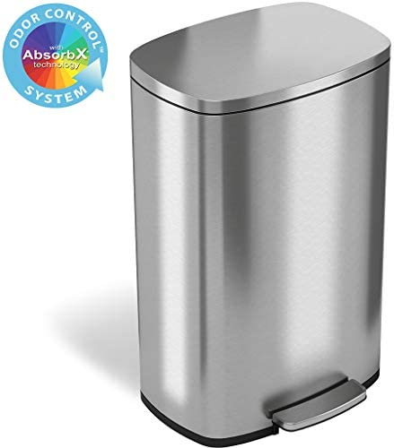 iTouchless SoftStep Stainless Garbage Kitchen product image
