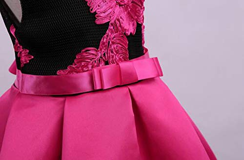 Tueenhuge Little Girls Sleeveless Flower Ruffles Lace Party Wedding Bridesmaid Dress by Tueenhuge (Image #3)