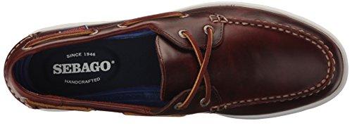Sebago Men's Liteside Two Eye Boat Shoe Brown Oiled Waxy Leather sale collections mDBw4RtY