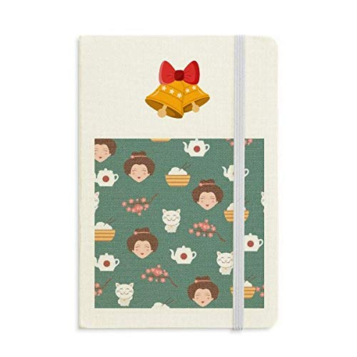 Cat Sakura Rice Teapot Japan Notebook Journal Christmas Jingling Bell