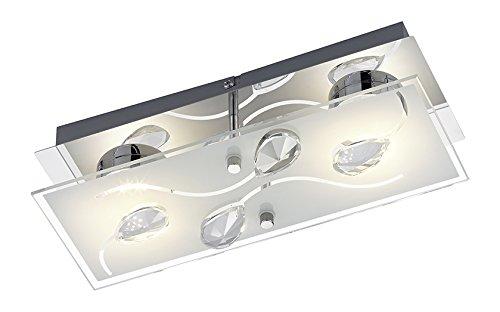 Reality r lampada led da parete soffitto cromato vetro